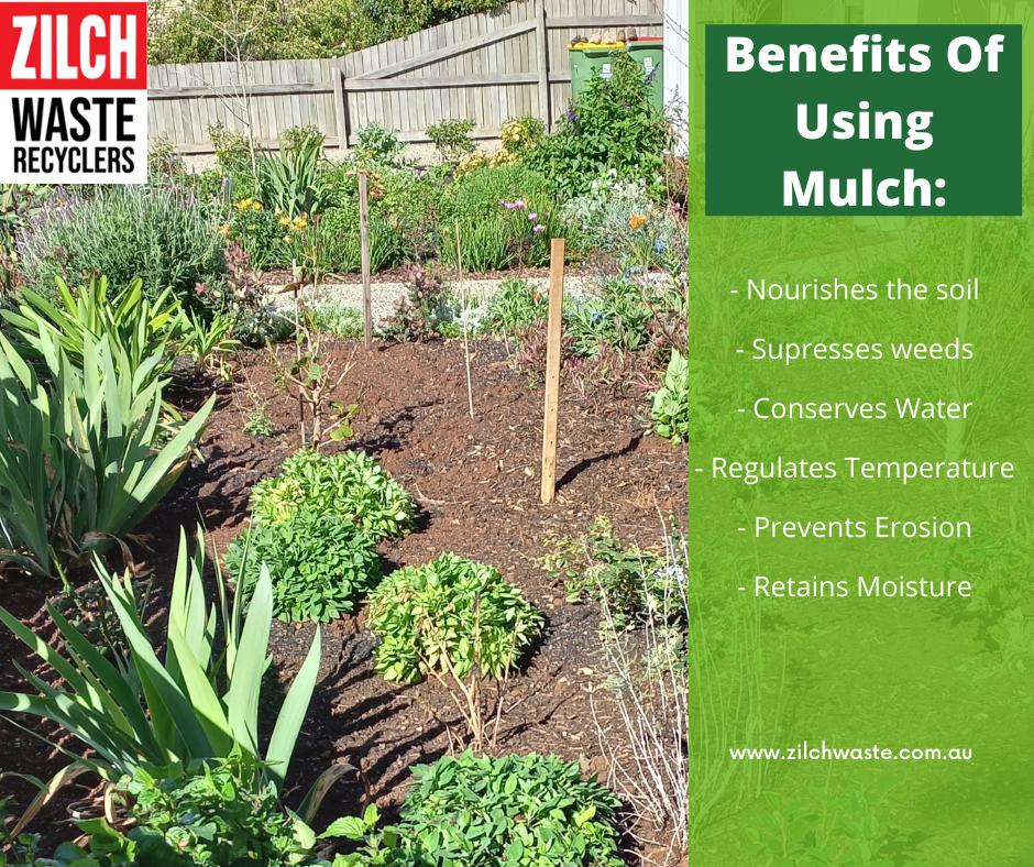 Benefits of using mulch Toowoomba Zilch Waste Garden